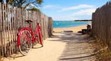 Détnete sur la plage après une balade à vélo sur lîle de Noirmoutier