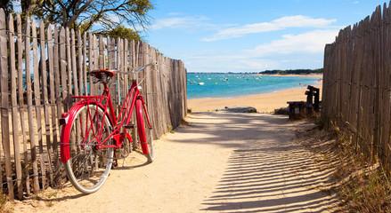 Détnete sur la plage après une balade à vélo sur lîle de Noirmoutier © Thierry RYO