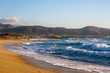 Leinwandbild Motiv Waves on the beach of Falasarne, Greece, Crete