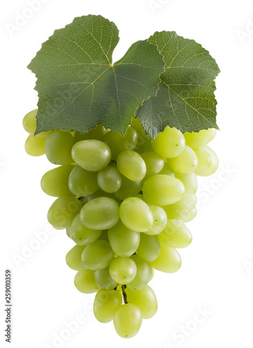 green grapes isolated on a white background © yurakp