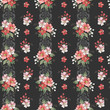 Seamless vintage floral pattern for gift wrap and fabric design - 259018779