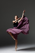 Leinwandbild Motiv Young beautiful ballerina is posing in studio
