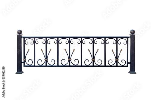 Modern cast railings, fence. © Swet