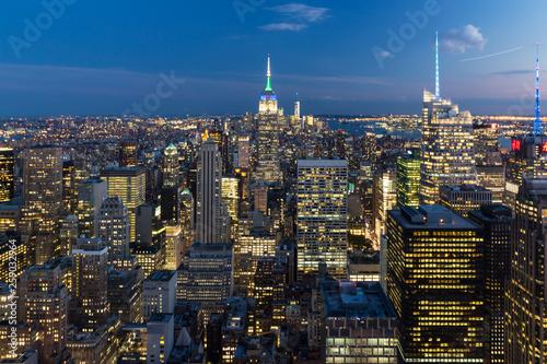 New York Panorama bei Nacht © Franziska