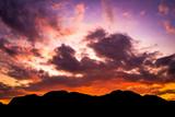 Fototapeta Fototapety z naturą - landscape of sunset , sky in Twilight time  in Thailand © meen_na