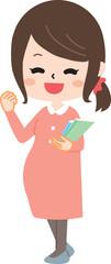 Pregnant woman holding a book © yurikoroma(ゆりころま)