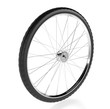Bicycle wheel. 3d rendring illustration isolated