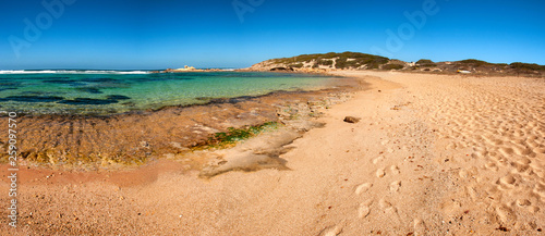 Sardegna, spiaggia di Sa Mesa Longa, Italia - 259097570