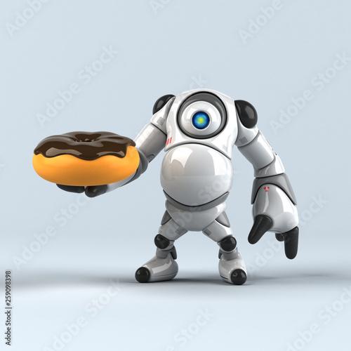 Leinwandbild Motiv Big robot - 3D Illustration