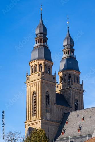 canvas print picture Türme der St.-Josephs-Kirche in Speyer