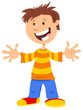 happy boy comic cartoon character - 259118708