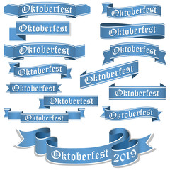 collection of different Oktoberfest 2019 banners
