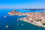 Rovinj Old Town, Istria, Croatia, aerial view