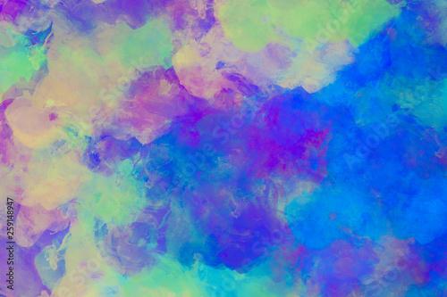 modern Art Wallpaper in bläulichen Farbtönen © ProdoBeutlin