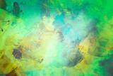 Wallpaper Modern Art blau, türkis, grün und gelb