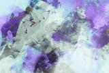 Modern Art Gemälde violett, blau, schwarz und türkis