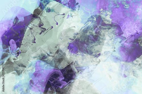Modern Art Gemälde violett, blau, schwarz und türkis © ProdoBeutlin