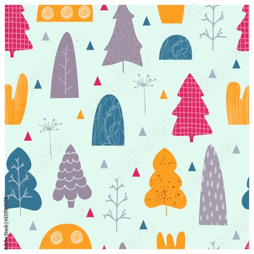 fototapeta na ścianę trees vector illustration