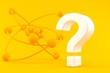 Leinwandbild Motiv Science background with question mark