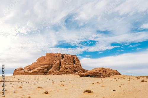 Panoramic view of Wadi Rum desert, Jordan - 259177754