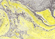 Leinwandbild Motiv Contemporary painting. Abstraction. Unique hand painted image for creative design of posters, wallpapers. Modern piece of art. Mixed media artwork. Unusual artistic style. Grey and yellow paints.