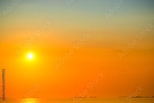 fototapeta na ścianę sea sky and sunset background image