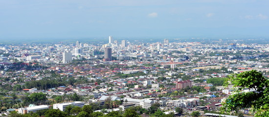 Hat Yai city view from the top of the mountain Important districts A large economic city in southern Thailand © tharathip