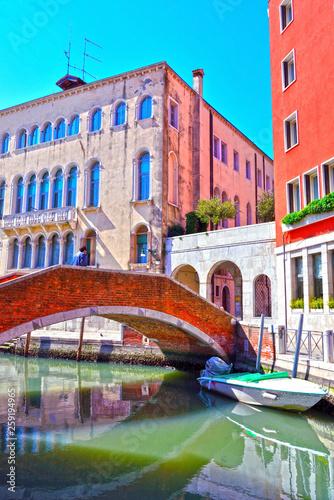 fototapeta na ścianę view of a canal in Venice Italy