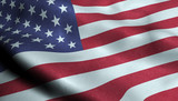 United States of America Waving Flag in 3D