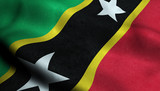 Saint Kitts and Nevis Waving Flag in 3D