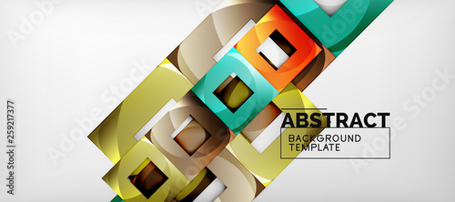 Square background, abstract squares on grey, business or techno template