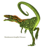 Masiakasaurus Dinosaur Tail with Font - Masiakasaurus was a carnivorous theropod dinosaur that lived in Madagascar during the Cretaceous Period.