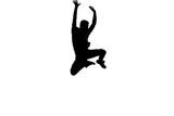 Cute guy doing breakdance