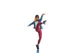 Athlete girl doing aerobic