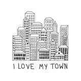 Fototapeta City - I love my town © ZYTA.eM