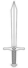 Sword contour illustration © AlexanderZam