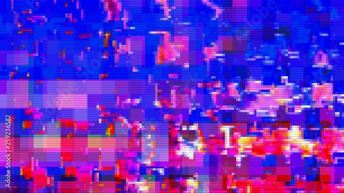 Digital noise background glitch screen,  futuristic. - 259236582