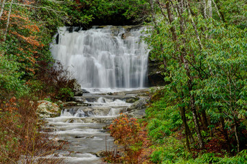 Meigs Falls in late summer season.