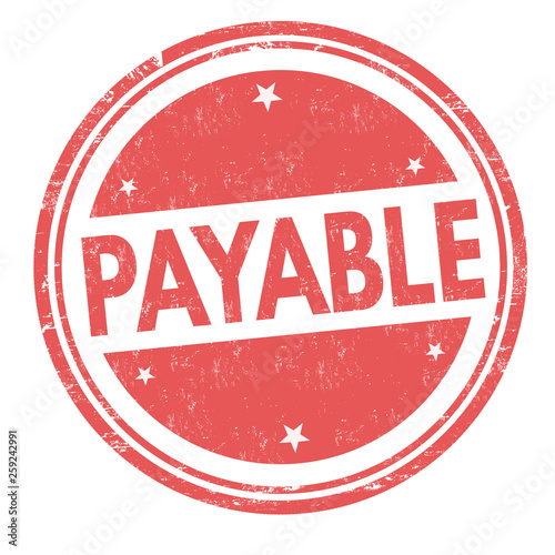 Payable sign or stamp
