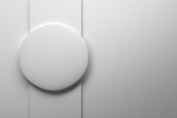 Round shape on white background