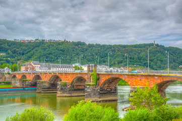 Roman bridge in Trier, Germany