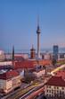 Leinwanddruck Bild - The famous Fernsehturm in Berlin at dawn