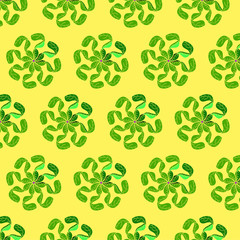 seamless pattern with geometric organic figures © Fatshiba
