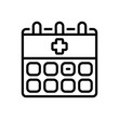 Black line icon for appointment