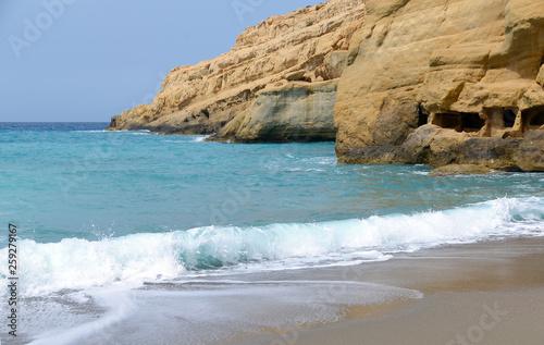 canvas print picture Küste bei Matala, Kreta