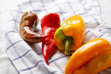 Sweet red and yellow paprika