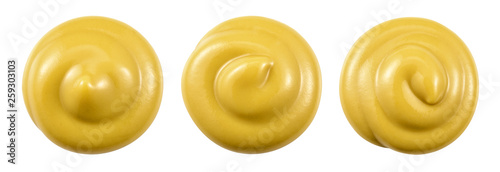 Mustard isolated. Mustard top view. With clipping path. © Tim UR