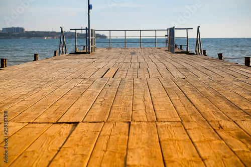 wooden pier on the sea © Anna81