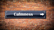 canvas print picture - Street sign to Calmness