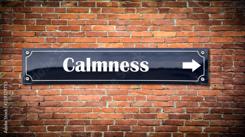 canvas print picture Street sign to Calmness
